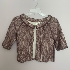 Anthropologie Moth Spiced Lace Cardigan